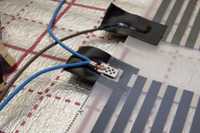 установка электрического теплого пола