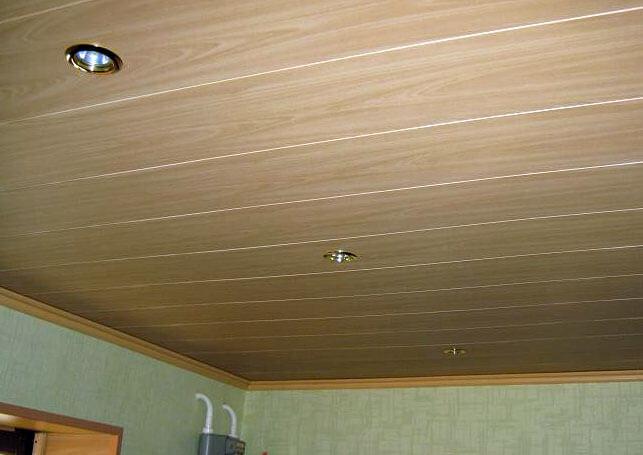 Потолок из мдф панелей своими руками