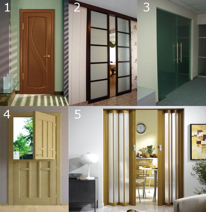 Варианты комнатных дверей